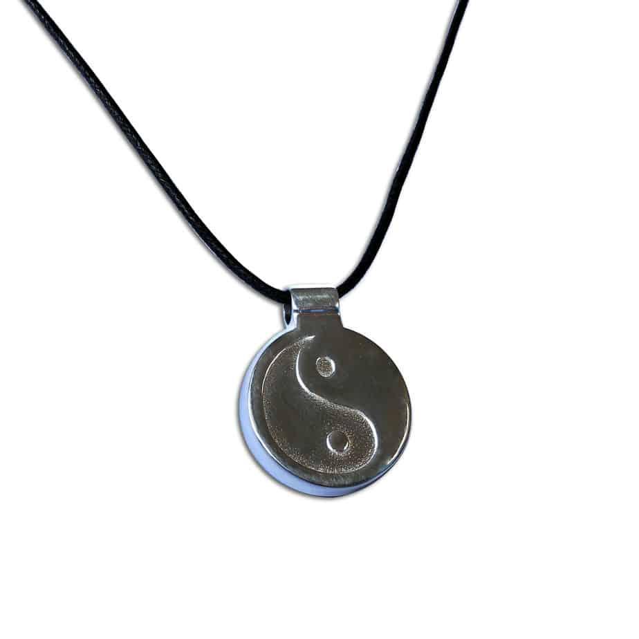 EMF Protective pendant silver Skinny Yin-Yang