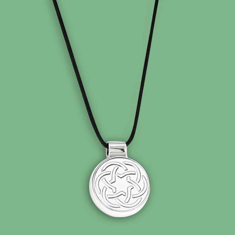 chakra balancing pendant Fortitude silver